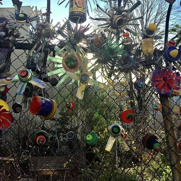 Fence Decorations Surrounding A Art Print by Gina Callaghan