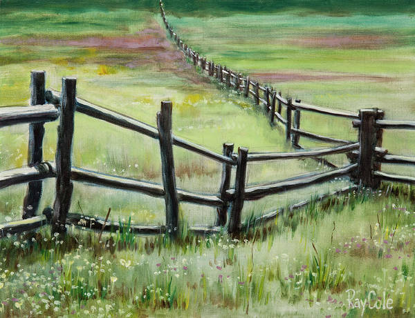Endless Painting - Fence Forever by Ray Cole