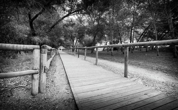 Photograph - Fenced Walkway by Gary Gillette
