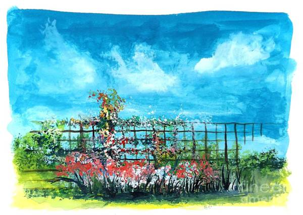 Painting - Fenceline Floral by David Neace