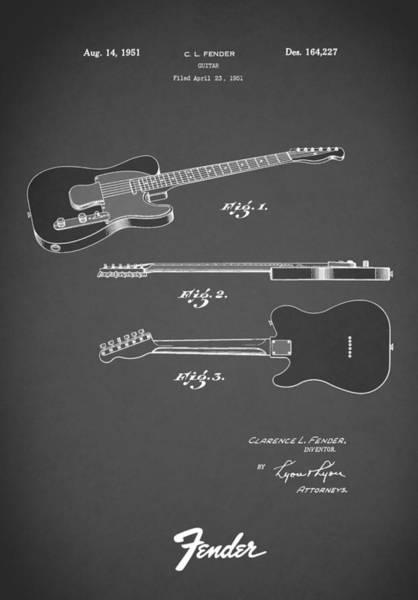Wall Art - Photograph - Fender Guitar 1951 by Mark Rogan