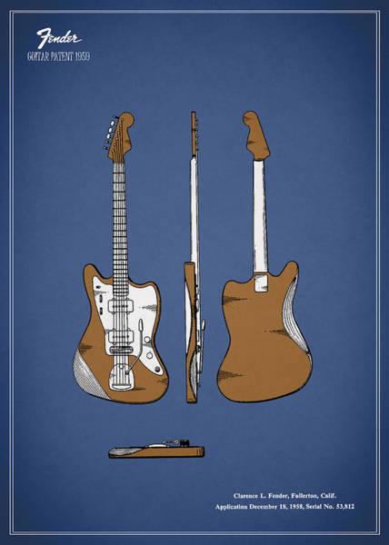 Wall Art - Photograph - Fender Guitar Patent 1959 by Mark Rogan