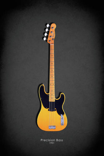 Wall Art - Photograph - Fender Precision Bass 1951 by Mark Rogan