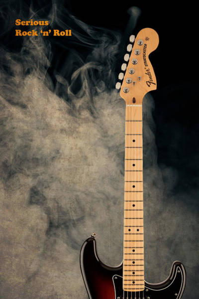 Stratocaster Photograph - Fender - Serious Rock N Roll by Mark Rogan