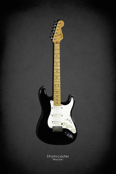 Wall Art - Photograph - Fender Stratocaster Blackie 77 by Mark Rogan