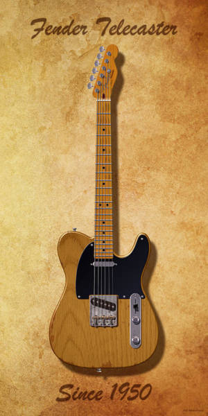 Broadcaster Wall Art - Digital Art - Fender Telecaster Since 1950 by WB Johnston