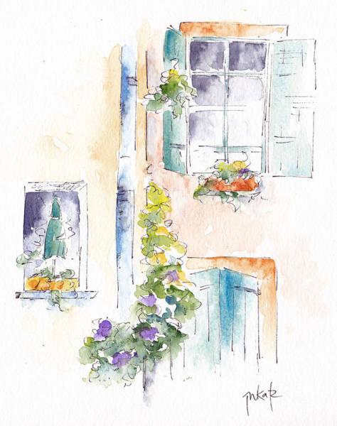 Painting - Fenetrio  by Pat Katz