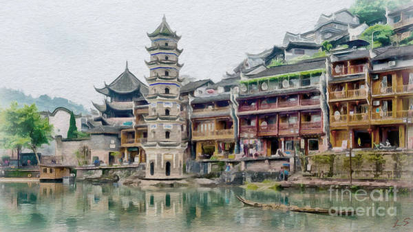China Town Painting - Fenghuang Collection - 1 by Sergey Lukashin