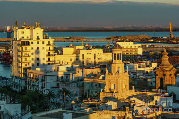 Photograph - Fenix Building And Townhall From West Tower Cadiz Spain by Pablo Avanzini