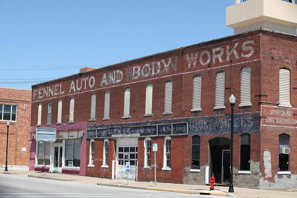 Moberly Photograph - Fennel Auto And Body Works by Kathy Cornett