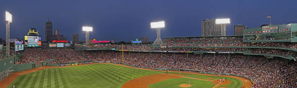 Photograph - Fenway Park And Boston Skyline by Juergen Roth