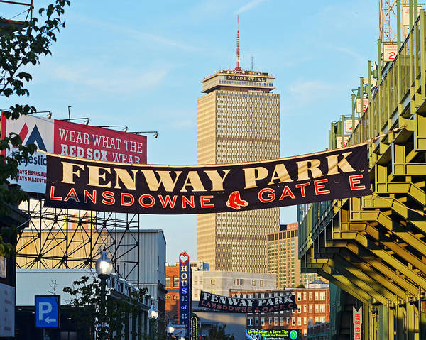 Photograph - Fenway Park Banners Boston Ma by Toby McGuire