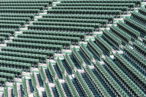 Photograph - Fenway Park Green Bleachers by Susan Candelario