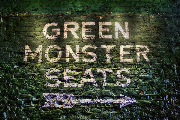 Photograph - Fenway Park Green Monster Seats by Joann Vitali