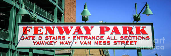 Wall Art - Photograph - Fenway Park Sign Gate D Entrance Panorama Photo by Paul Velgos