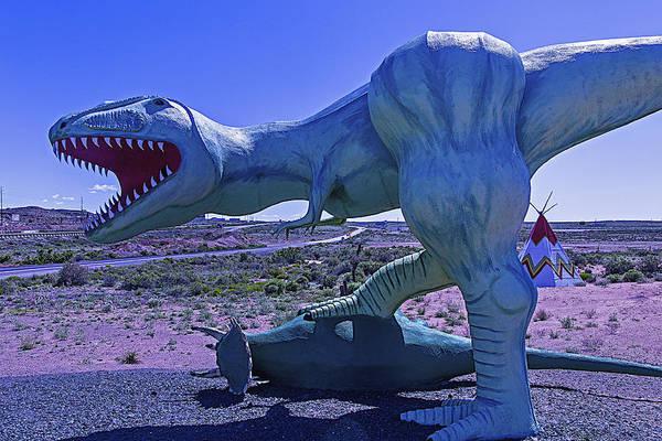 Dinosaurs Photograph - Ferious Dinosaur Trex by Garry Gay