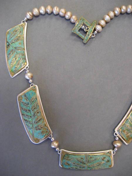 Freshwater Pearls Wall Art - Jewelry - Fern Sections by Brenda Berdnik