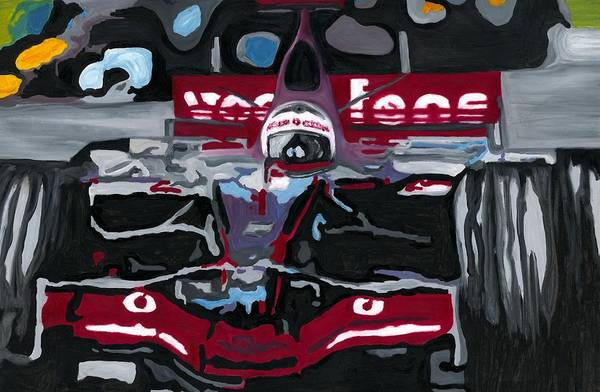 Painting - Fernando Alonso Wins Monaco For Mclaren 2008 by Ran Andrews