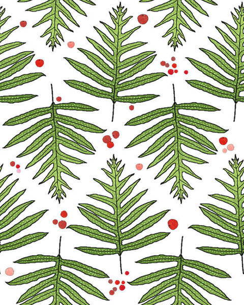 Ferns And Scattered Lychees Art Print