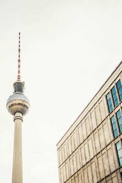 Wall Art - Photograph - Fernsehturm And Building In Berlin by Pati Photography