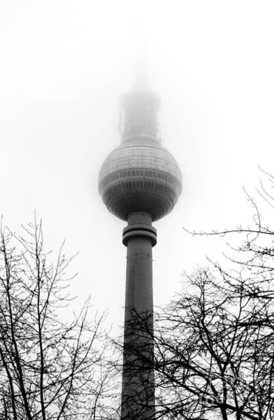 Wall Art - Photograph - Fernsehturm Fog In Berlin by John Rizzuto