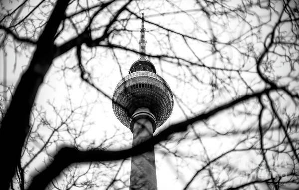 Wall Art - Photograph - Fernsehturm Lines In Berlin by John Rizzuto