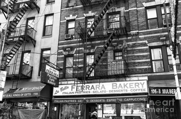 Photograph - Ferrara Of Mulberry Street Mono by John Rizzuto