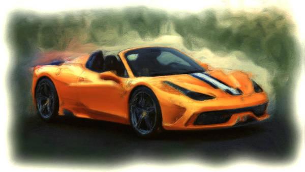 Super Car Mixed Media - Ferrari 1a by Brian Reaves