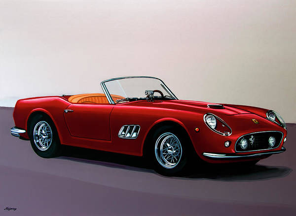 Vehicles Wall Art - Painting - Ferrari 250 Gt California Spyder 1957 Painting by Paul Meijering