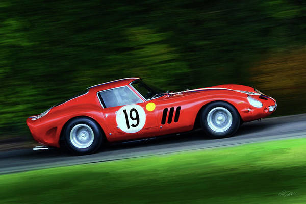 Wall Art - Digital Art - Ferrari 250 Gto Le Mans by Peter Chilelli
