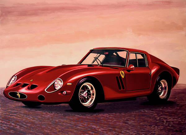 Oldtimer Wall Art - Painting - Ferrari 250 Gto 1962 Painting by Paul Meijering