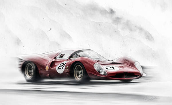 Wall Art - Digital Art - Ferrari 330 P Series by Peter Chilelli