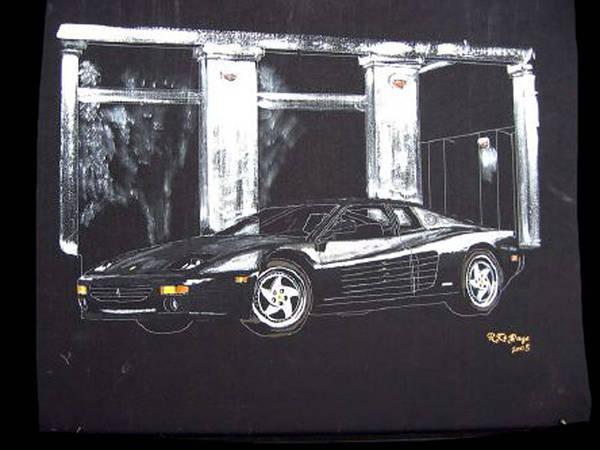 Painting - Ferrari 348 Gtr Testarrossa by Richard Le Page