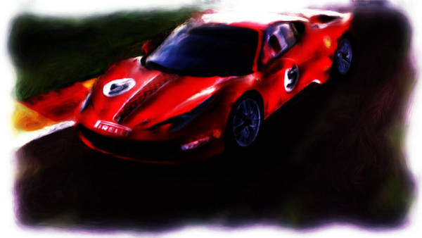 F430 Painting - Ferrari 458 Challenge by Brian Reaves