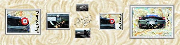 458 Digital Art - Ferrari 458 Speciale Collage by Donald Pavlica