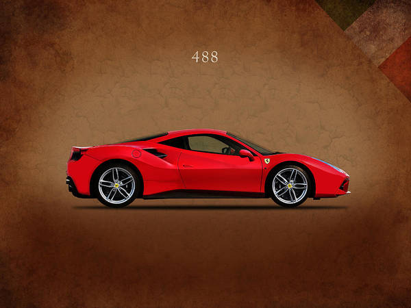 Wall Art - Photograph - Ferrari 488 by Mark Rogan