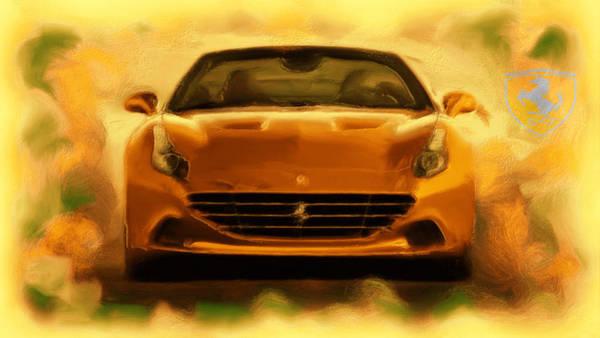 F430 Painting - Ferrari California T by Brian Reaves