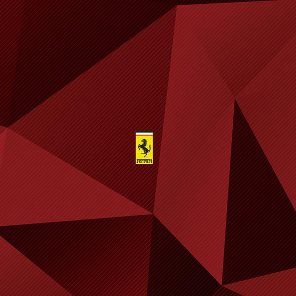 Carbon Fiber Photograph - Ferrari Carbon Fractals by Srdjan Petrovic