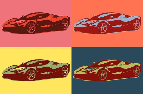 Fast Mixed Media - Ferrari Color Pop by Dan Sproul
