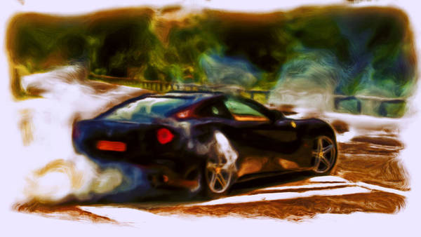 F430 Painting - Ferrari F 12 Burnout by Brian Reaves