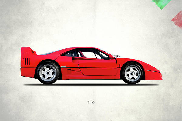 Wall Art - Photograph - Ferrari F40 Berlinetta by Mark Rogan