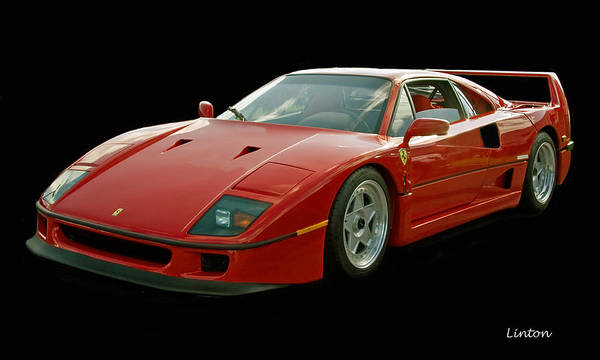 Photograph - Ferrari F40 by Larry Linton