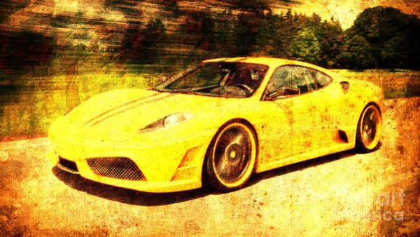 F430 Painting - Ferrari F430 by Drawspots Illustrations