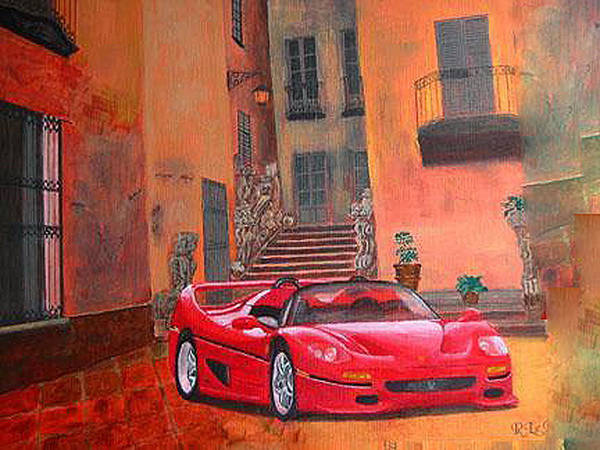 Painting - Ferrari F50 by Richard Le Page