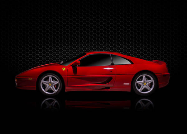 Wall Art - Digital Art - Ferrari Red - 355  F1 Berlinetto by Douglas Pittman