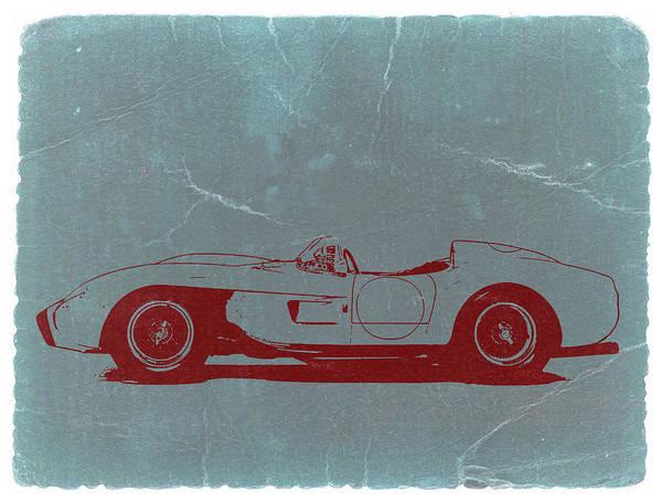 American Car Photograph - Ferrari Testa Rosa by Naxart Studio