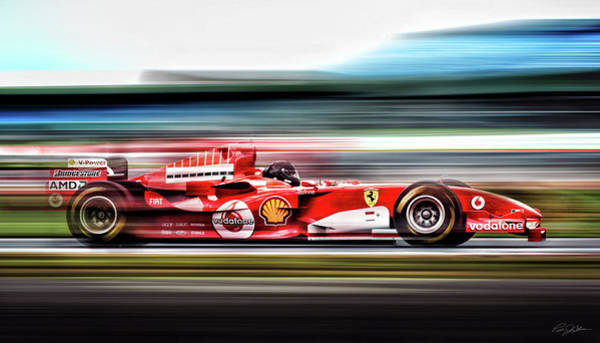 Formula One Digital Art - Ferrari Unbridled by Peter Chilelli