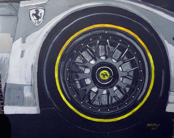 Painting - Ferrari Wheel by Richard Le Page