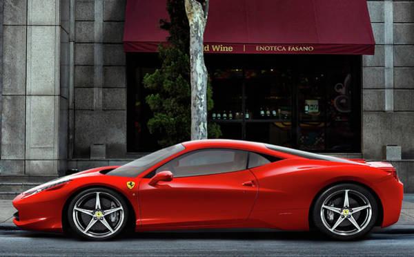 Supercars Digital Art - Ferrari Wine Run by Peter Chilelli