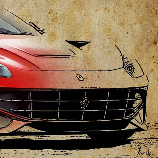 Wall Art - Photograph - Ferrari  #ferrari #artprint by Drawspots Illustrations